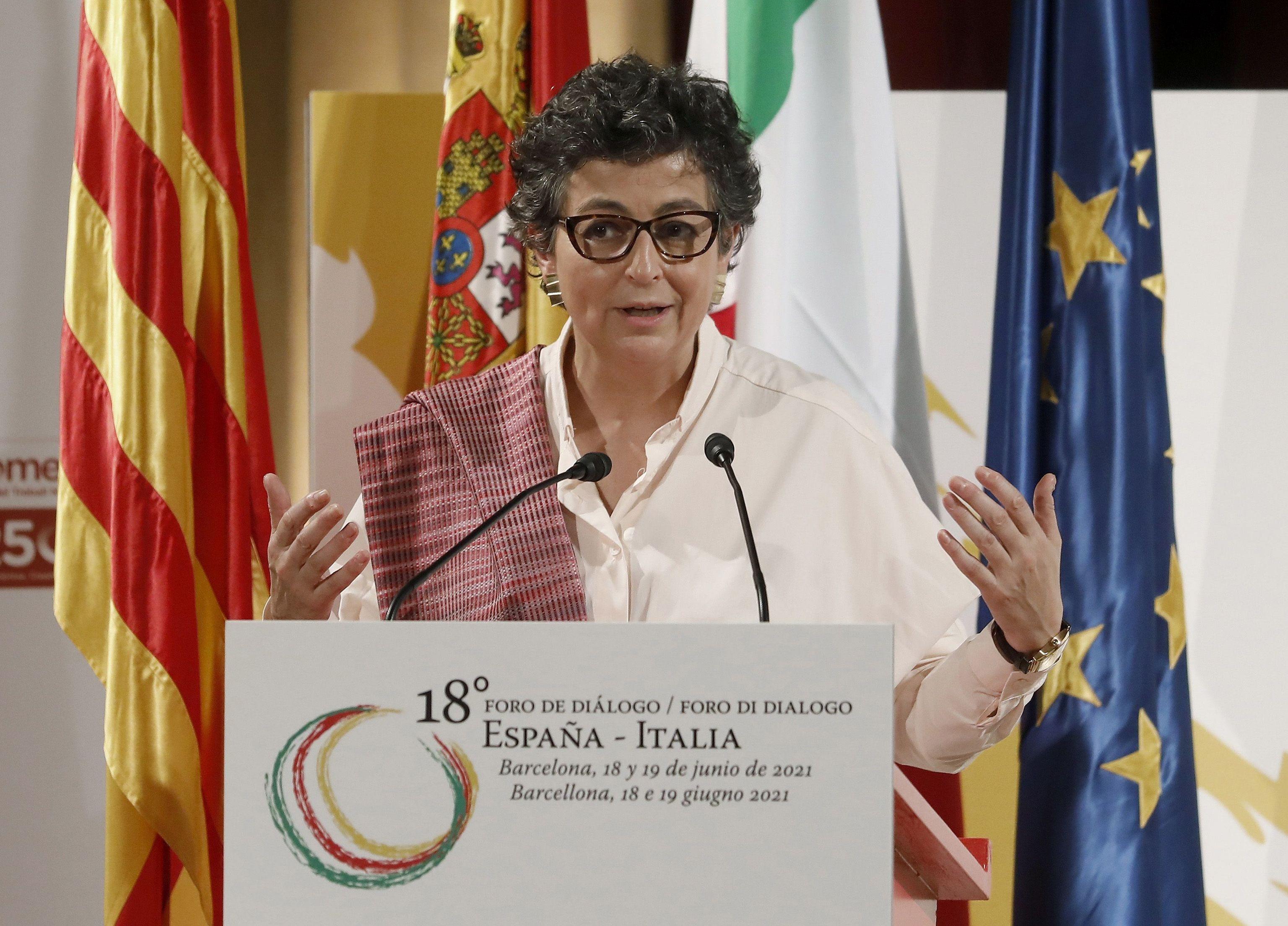 La ministra de Exteriores, Arancha González Laya, este fin de semana en Barcelona.