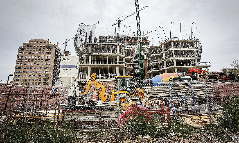 Obras de construcción en Valencia.