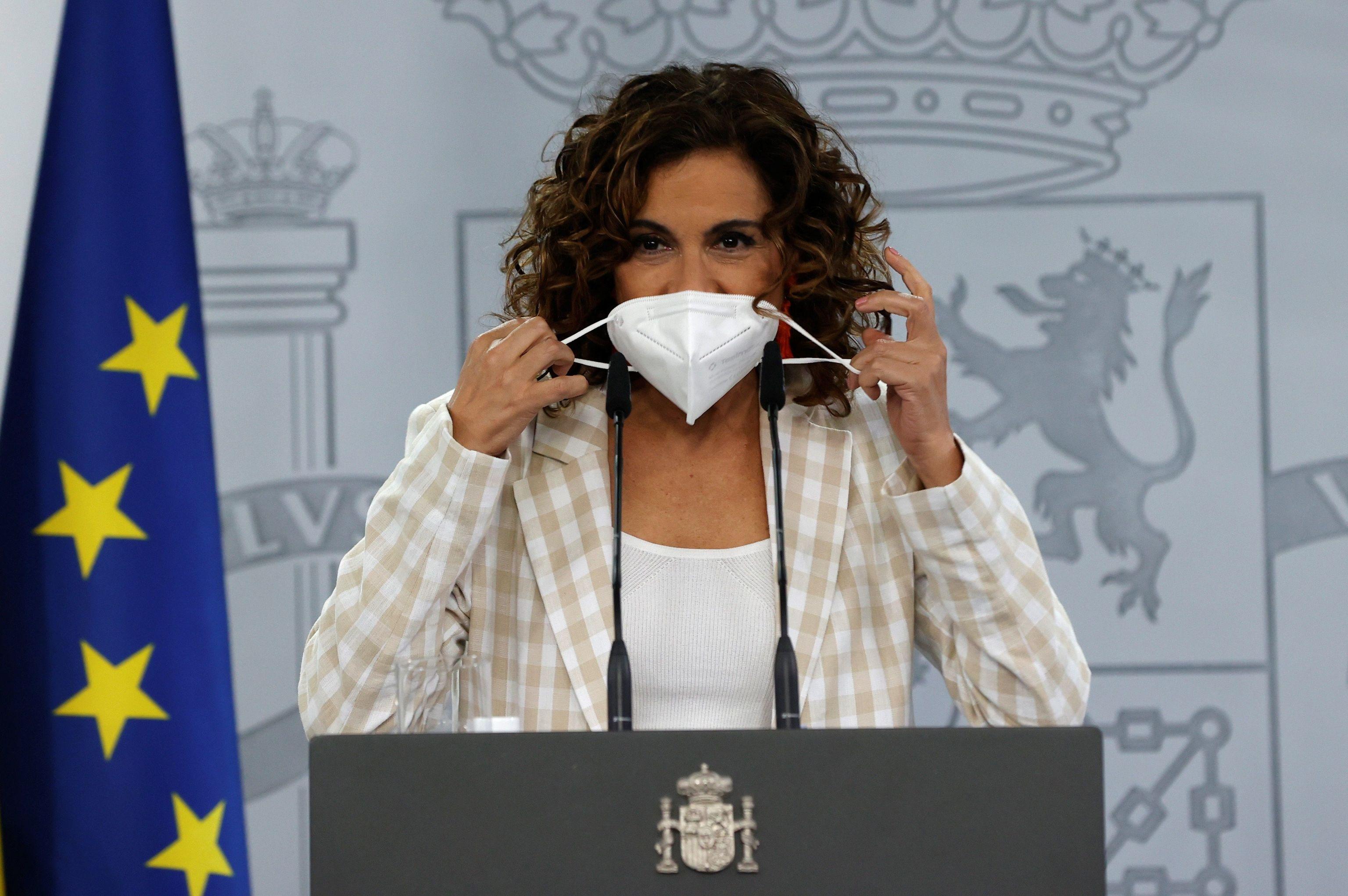 La ministra de Hacienda y Portavoz del Gobierno, María Jesús Montero, el pasado jueves en Moncloa