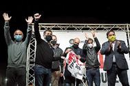 Acto de Òmnium Cultural con presos del 'procés' el pasado marzo en Lledoners.