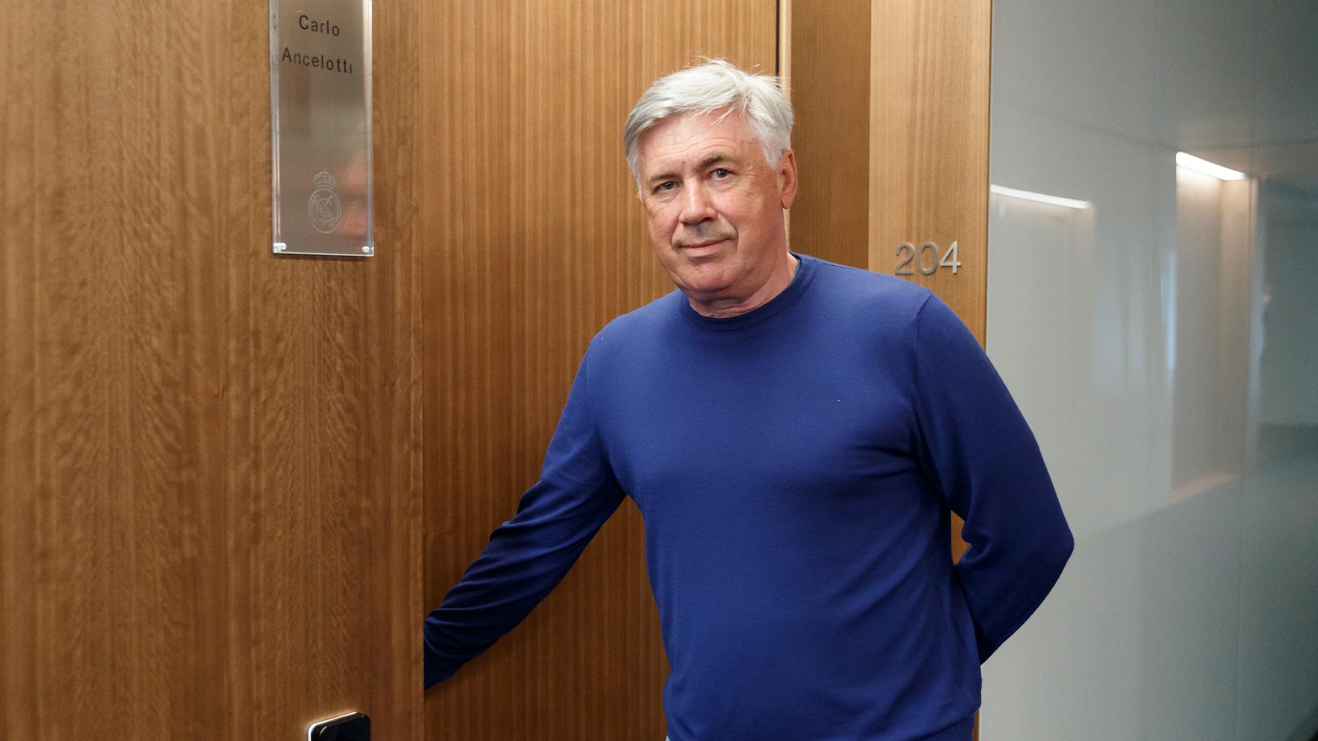 Carlo Ancelotti, en Valdebebas.