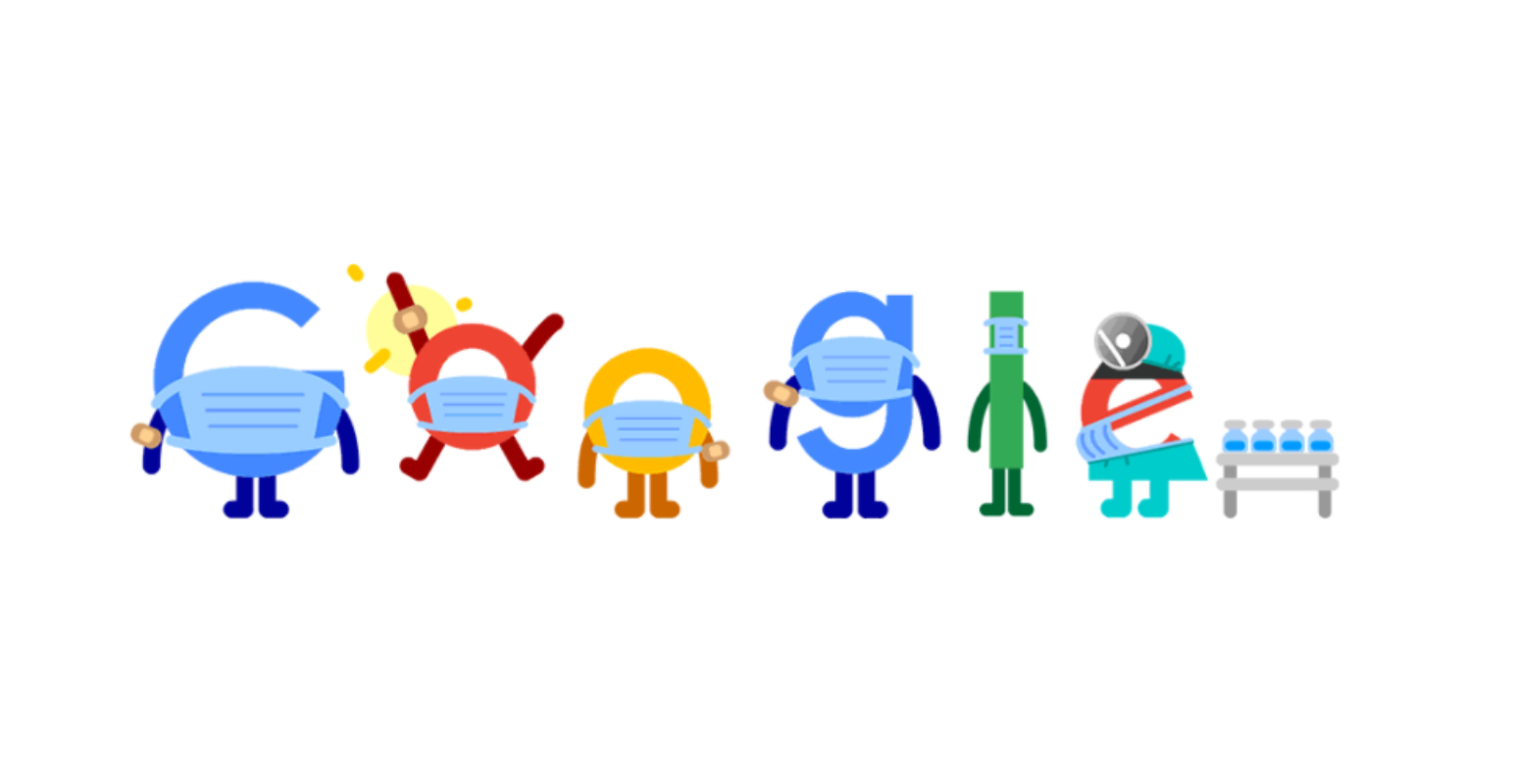 doodle google vacunate contra la covid