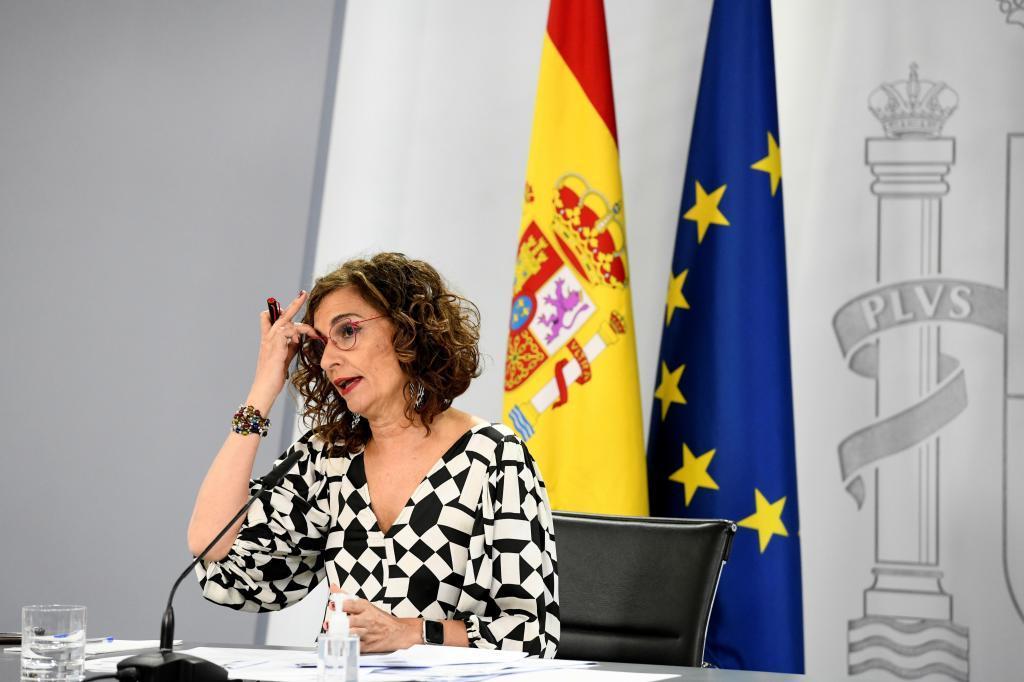 La ministra de Hacienda y portavoz de del Gobierno, María Jesús Montero.