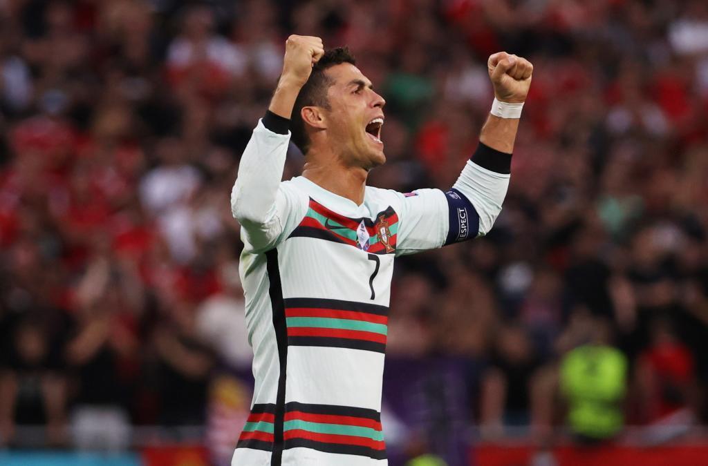 Cristiano Ronaldo celebra un gol en la Eurocopa.