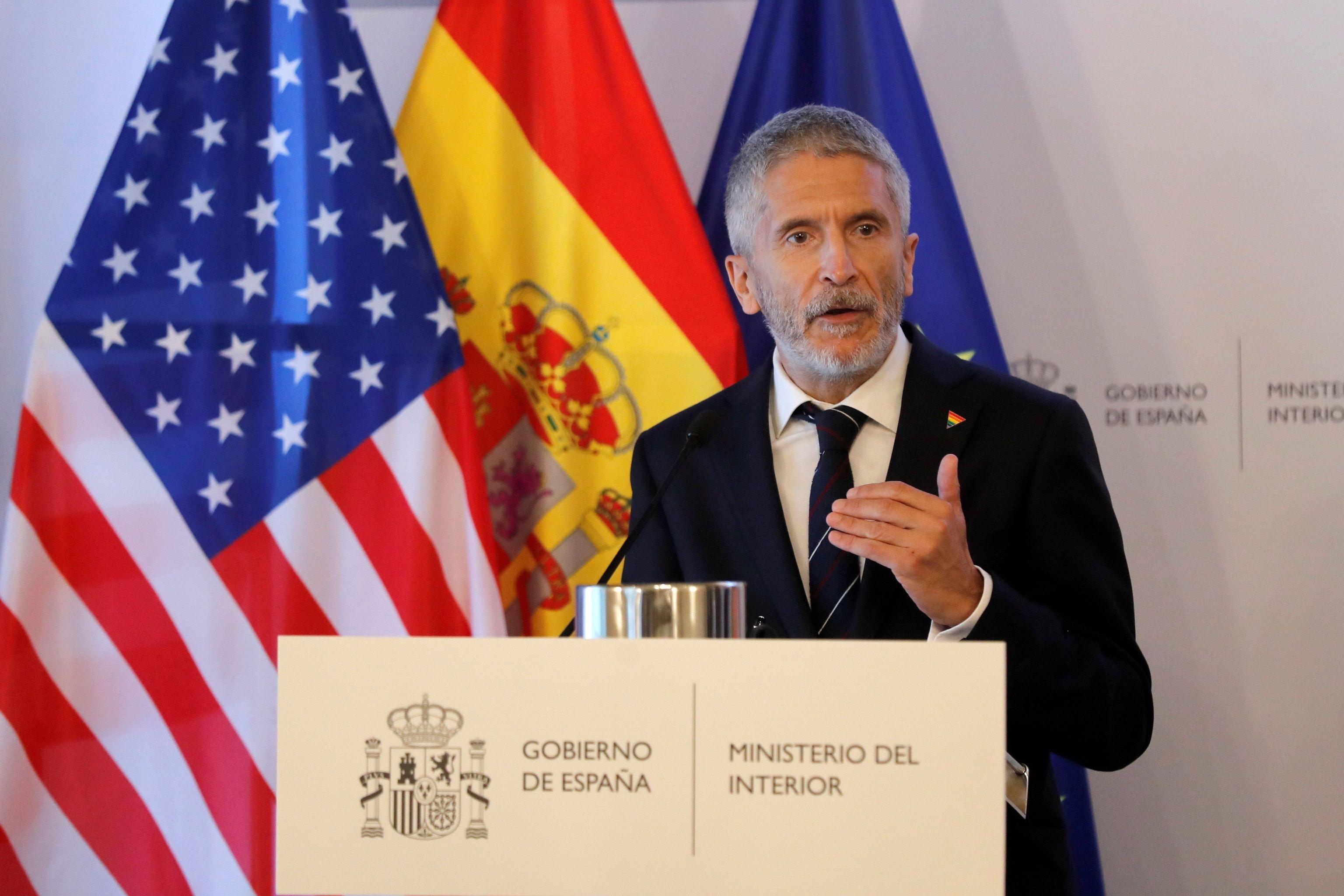 El ministro del Interior, Fernando Grande-Marlaska, en un acto celebrado este miércoles en Madrid.