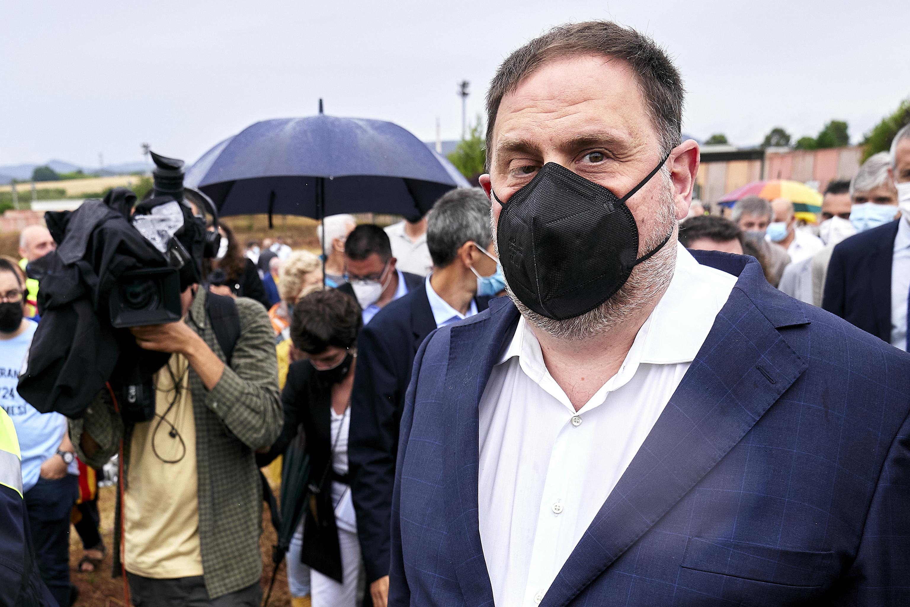 Oriol Junqueras, ya indultado tras salir de Lledoners.