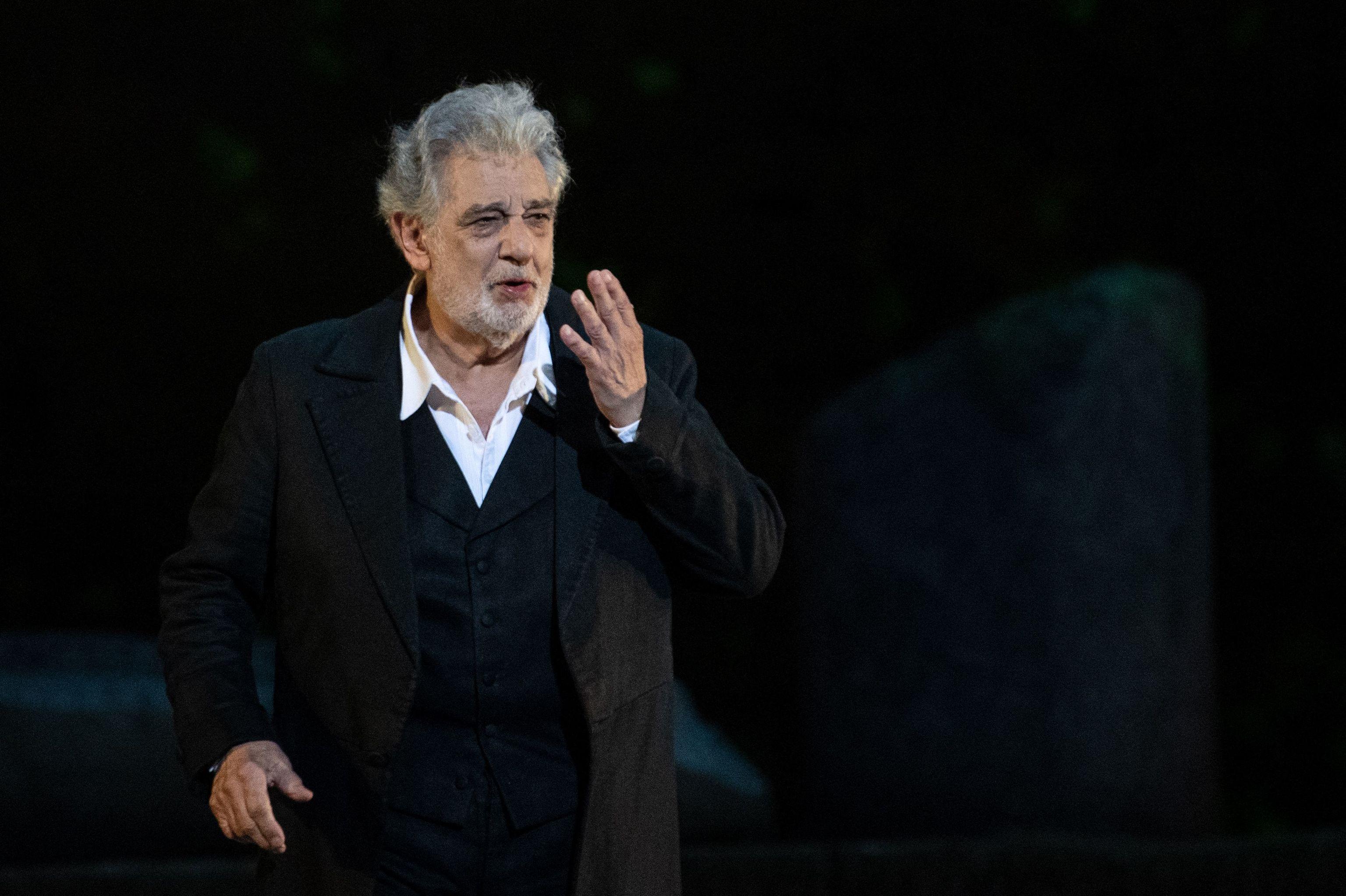 Plácido Domingo en una actuación de 2019 en París.