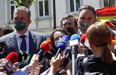 El líder de Vox, Santiago Abascal, ante el Tribunal Supremo
