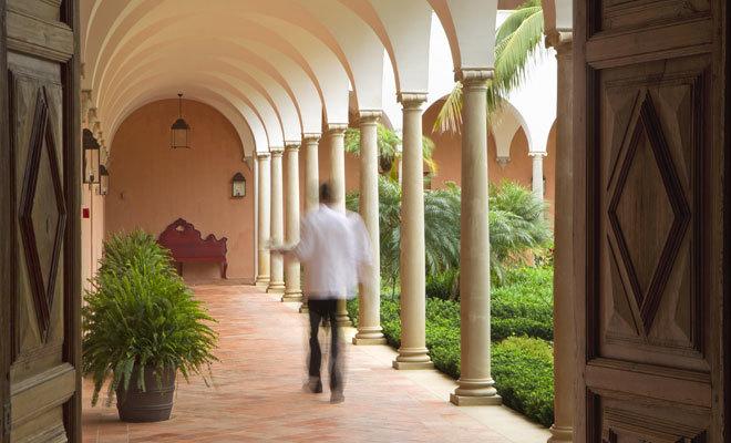 Uno de los dos patios del complejo malagueño.
