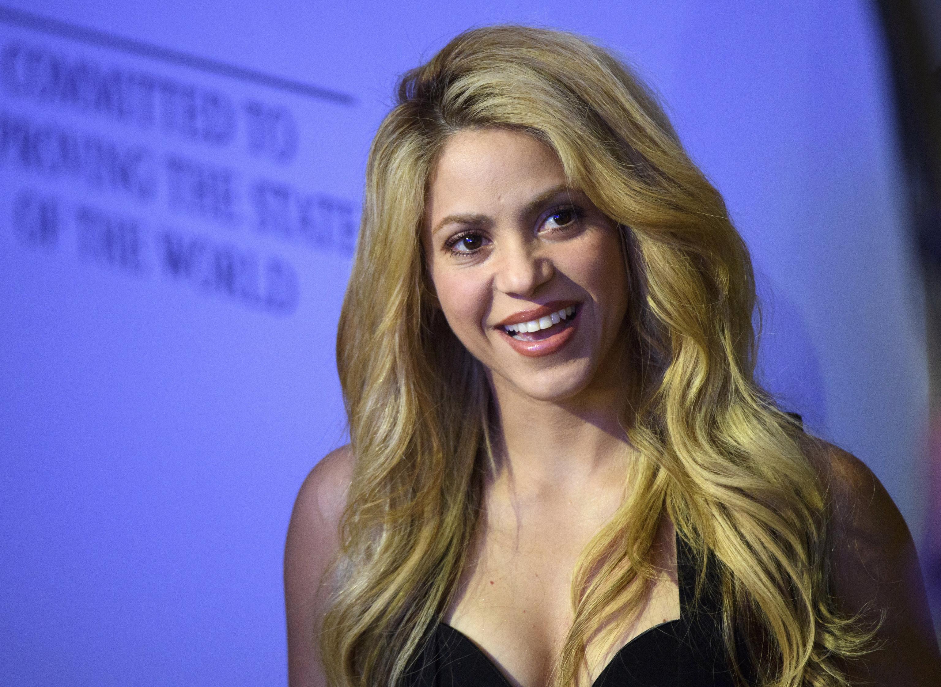 Shakira en un evento del Foro Económico Mundial en 2017.