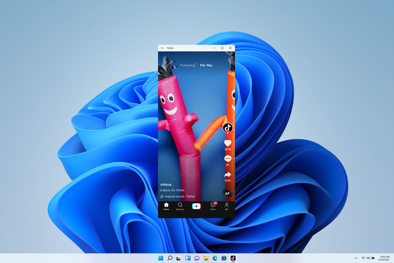 Aspecto del nuevo Windows 11