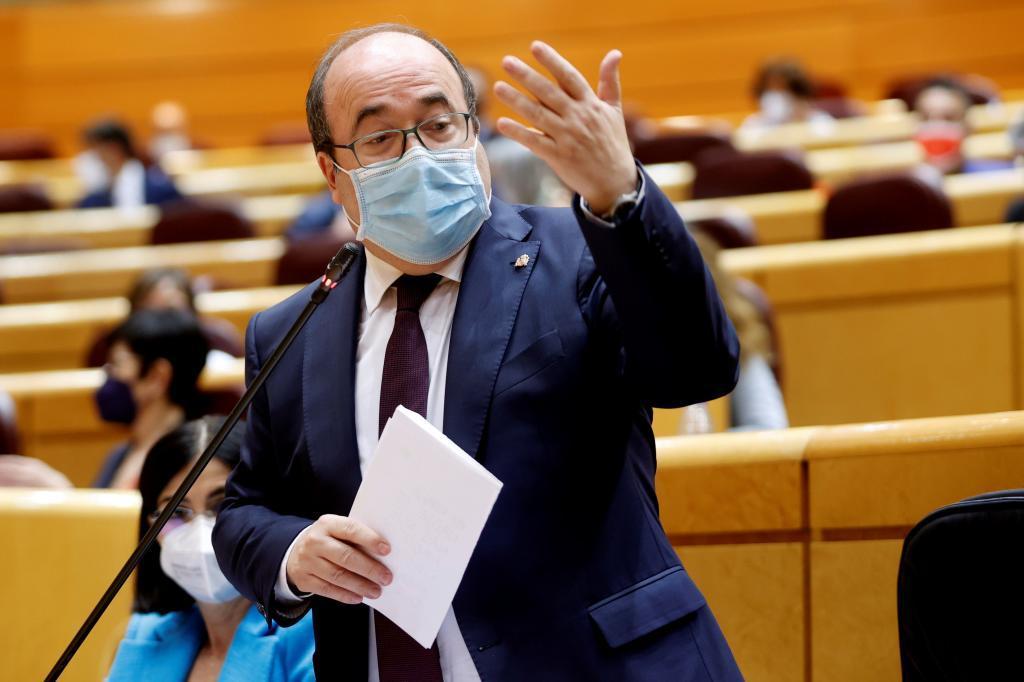 El ministro de Política Territorial y Función Pública, Miquel Iceta, el pasado martes en el Senado.