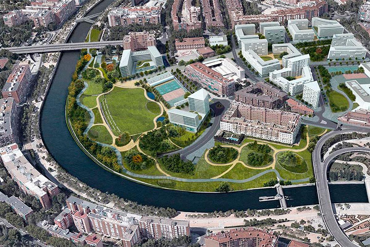 Recreación de la zona del Calderón cuando terminen las obras.