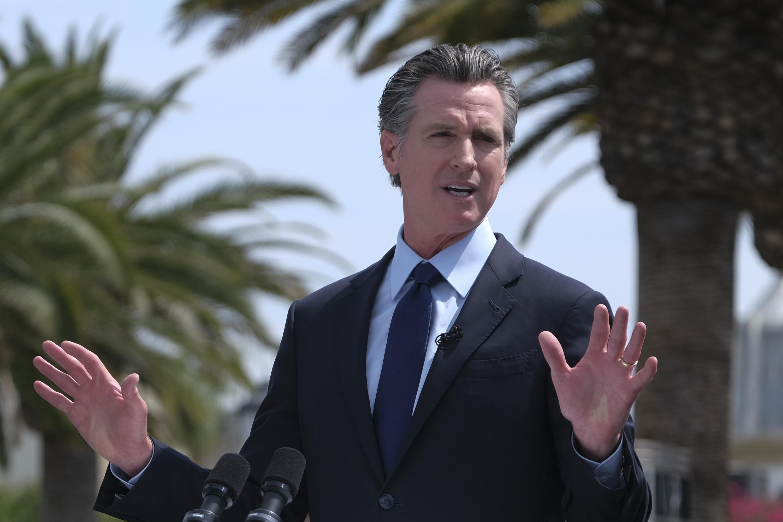 El gobernador de California, Gavin Newsom.