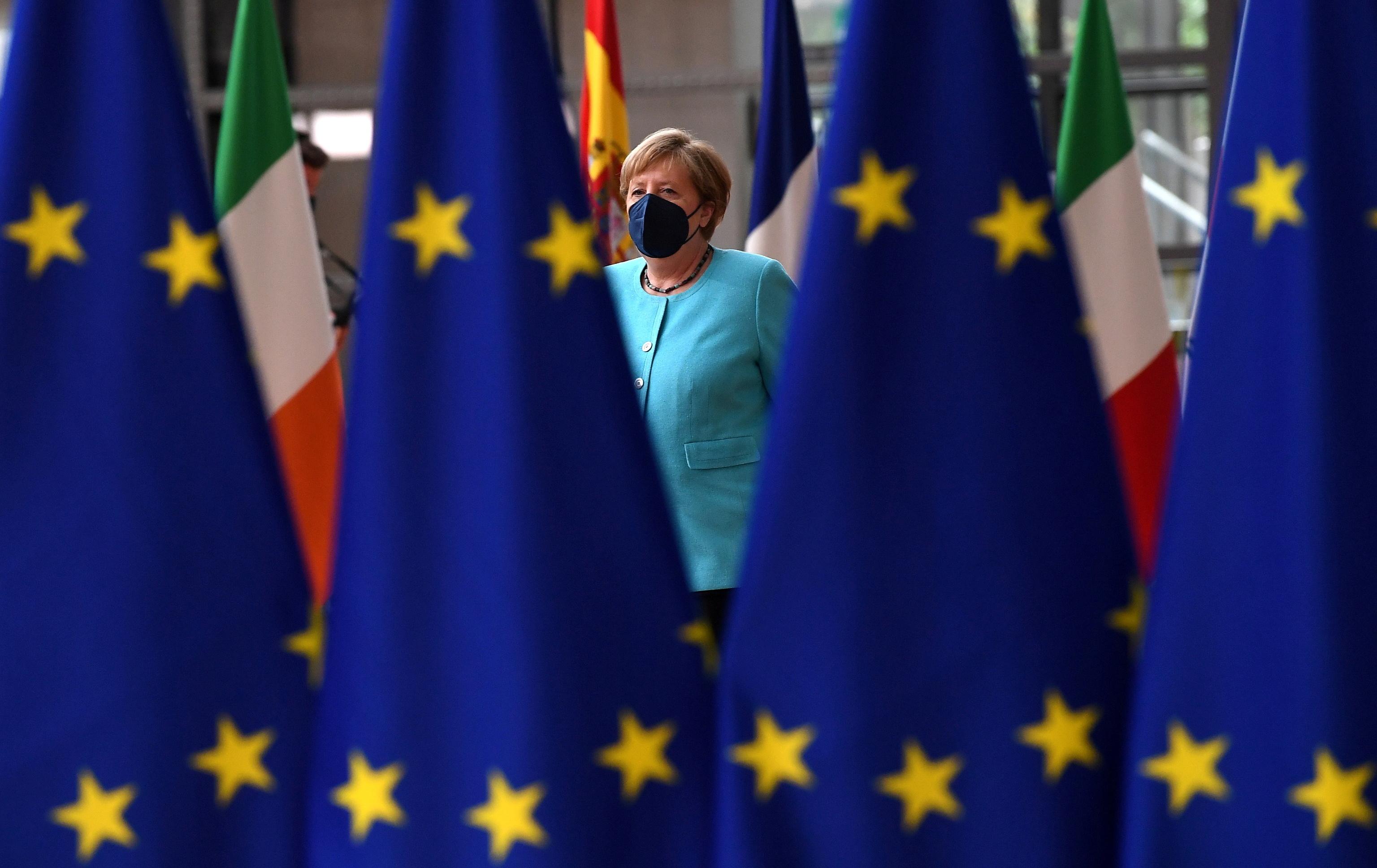 Angela Merkel en el Consejo Europeo, este jueves.