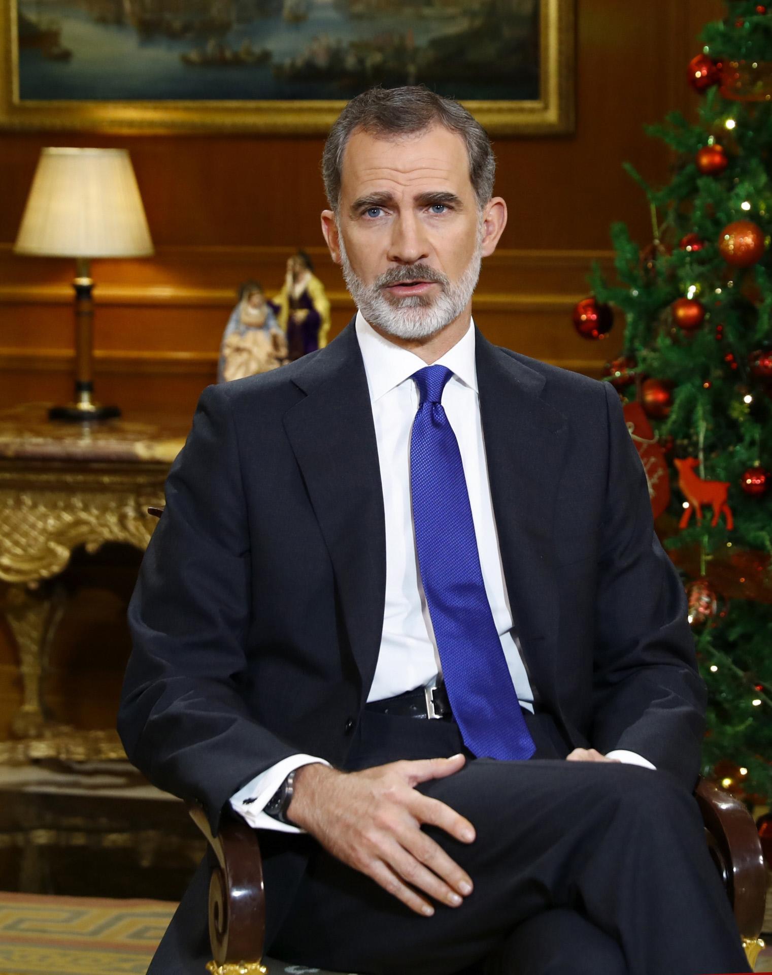 El Rey Felipe, en el último discurso de Navidad.