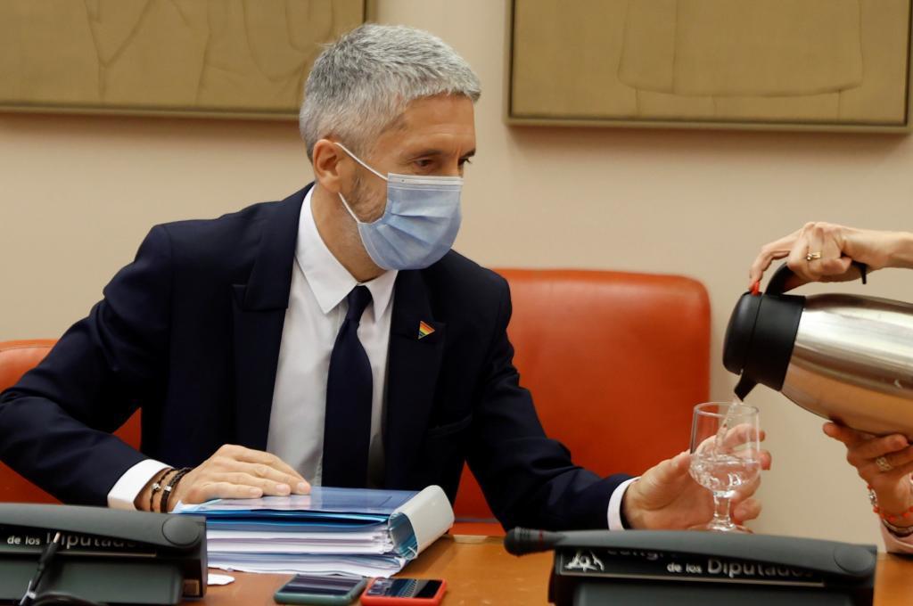 Fernando Grande-Marlaska, durante su comparecencia en la comisión de Interior.