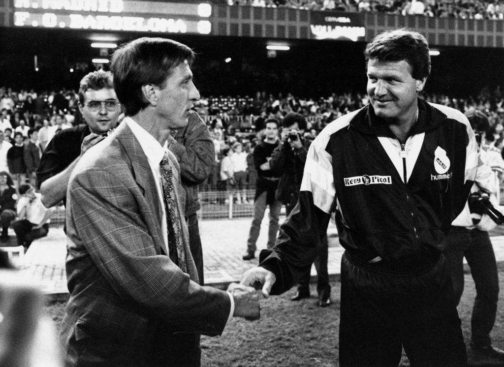 Toshack, con Cruyff, durante su etapa en el Real Madrid.