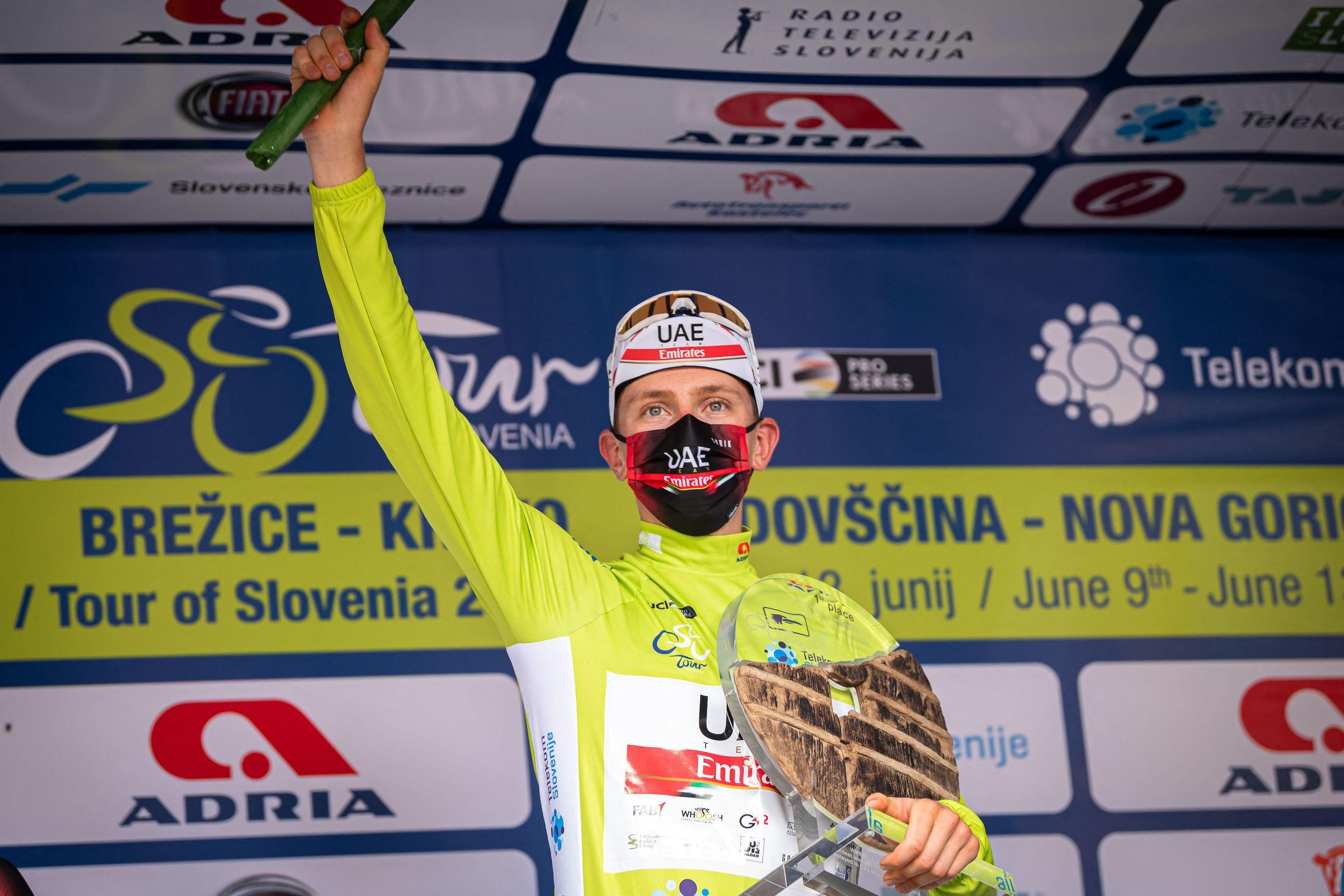 Tadej Pogacar tras ganar el Tour de Eslovenia