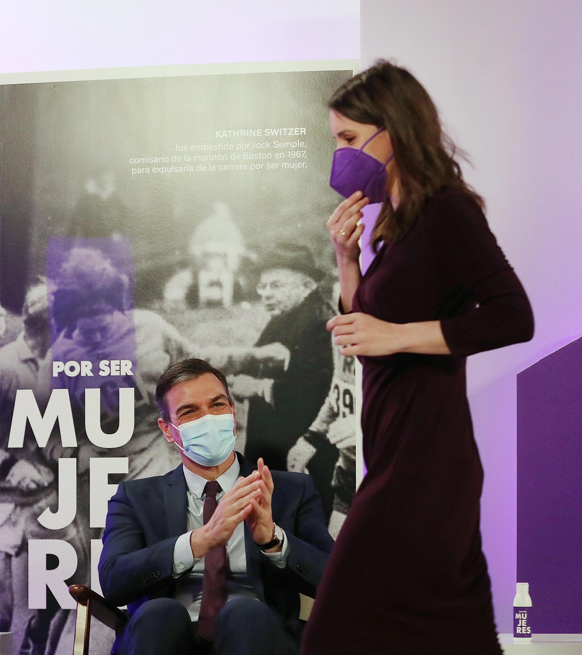 Pedro Sánchez e Irene Montero el pasado 8 de marzo.