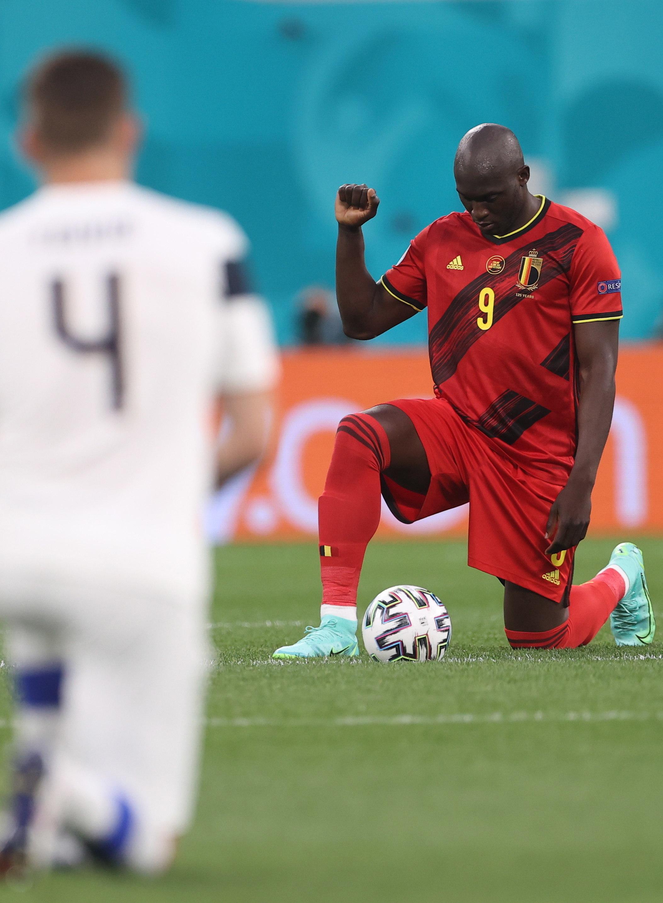 Lukaku, con la selección de Bélgica.
