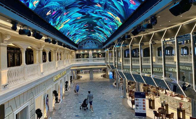 La Galleria del 'MSC Grandiosa'.