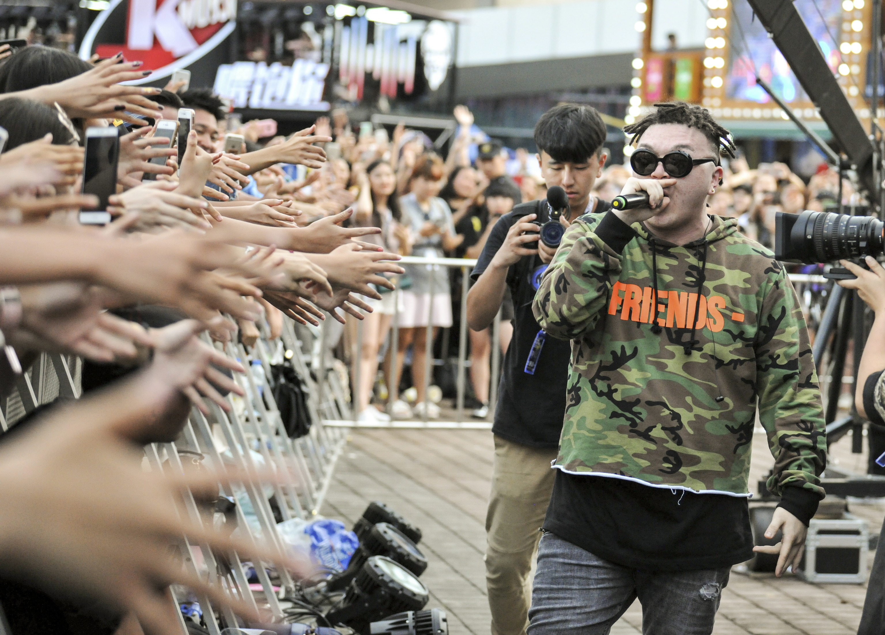 Un concierto de rap de After Journey en el Festival de Chengdu.