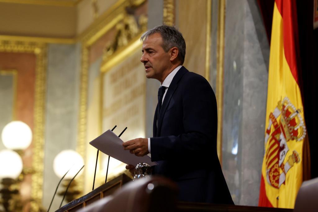 Tomás Caballero, presidente de la Fundación de Víctimas del Terrorismo, durante su intervención.