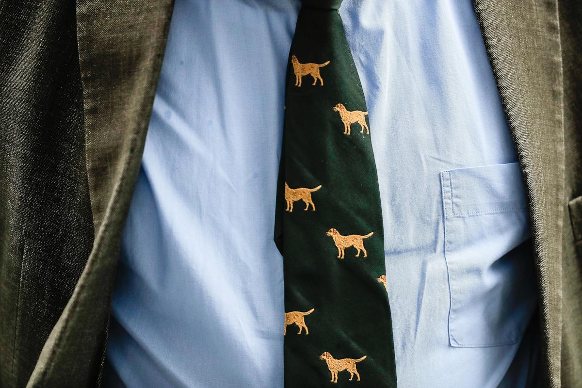 Corbata de Alexander Gauland, ex presidente de Alternativa para Alemania