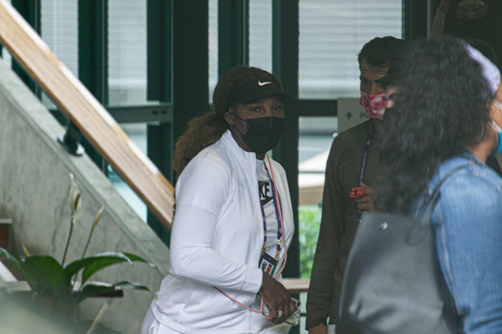 Serena Williams, la semana pasada preparándose para Wimbledon