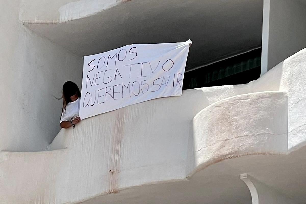 Estudiante gallega confinada en el hotel Bellver de Mallorca.