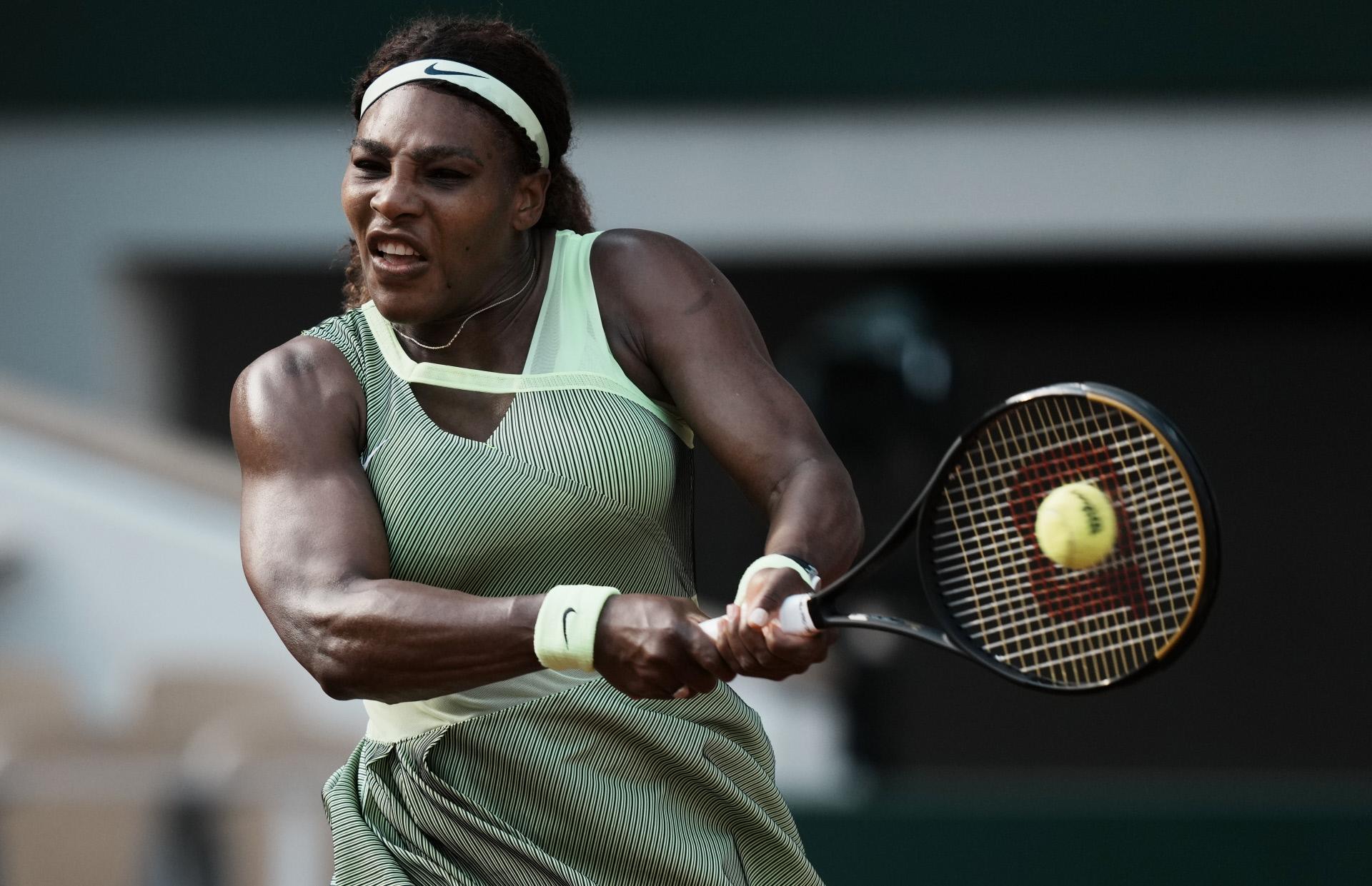 Serena Williams, este año, en Roland Garros