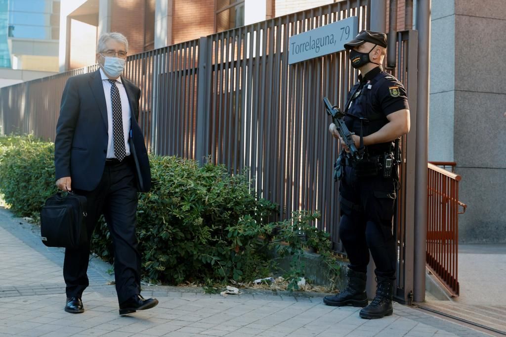 El ex conseller Francesc Homs, a su llegada al Tribunal de Cuentas, en Madrid.