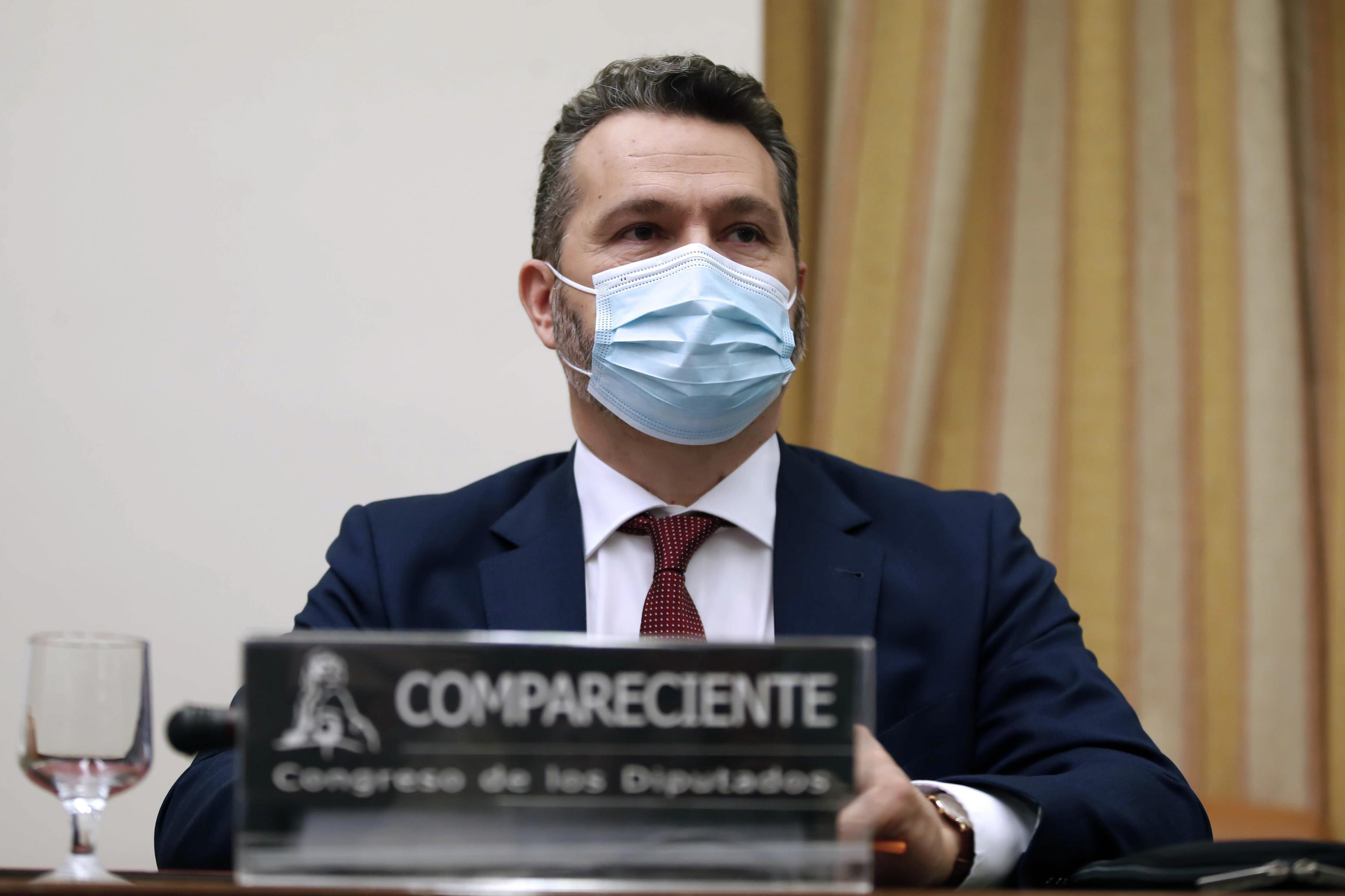 El presidente de la CNMV, Rodrigo Buenaventura, en el Congreso de los Diputados.