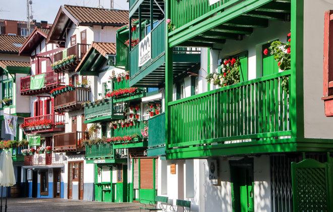 Hondarribia, en la provincia de Guipúzcoa.