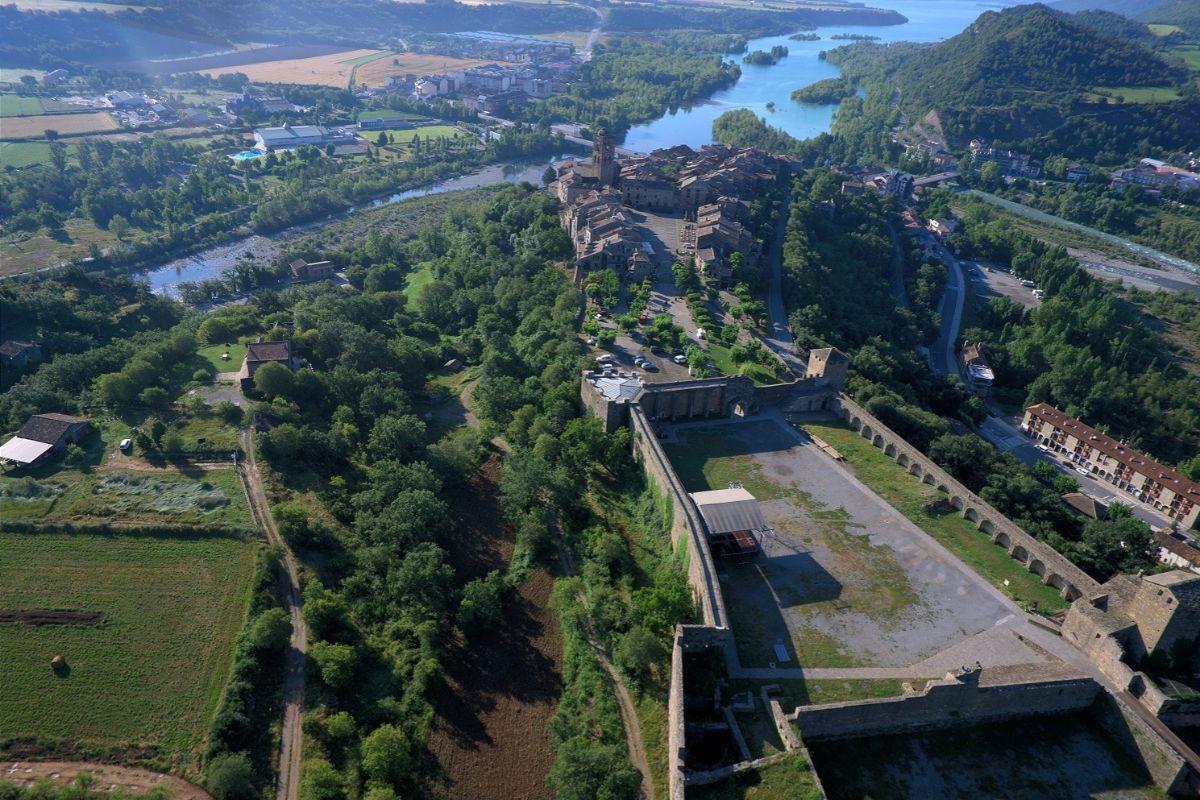 Vistas desde el Castillo de Aínsa.