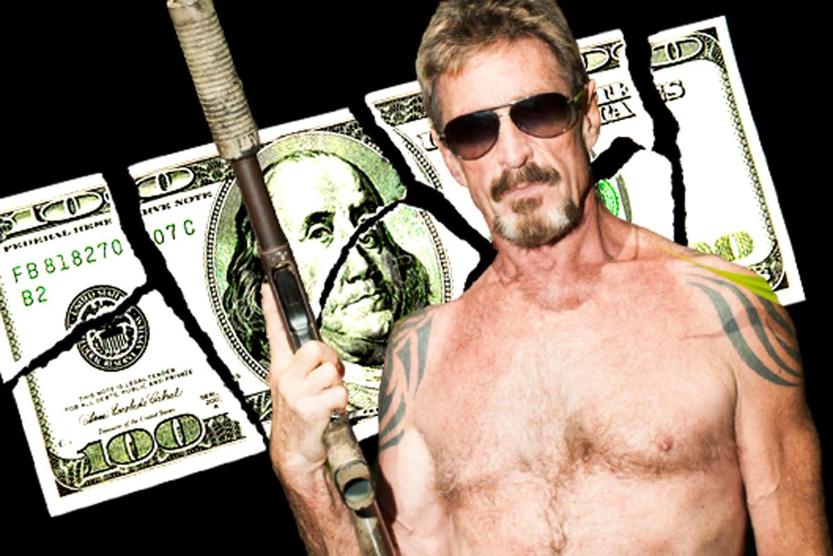 El dinero de McAfee se encontraba escondido en una red de cuentas bancarias y de monederos de criptomonedas.