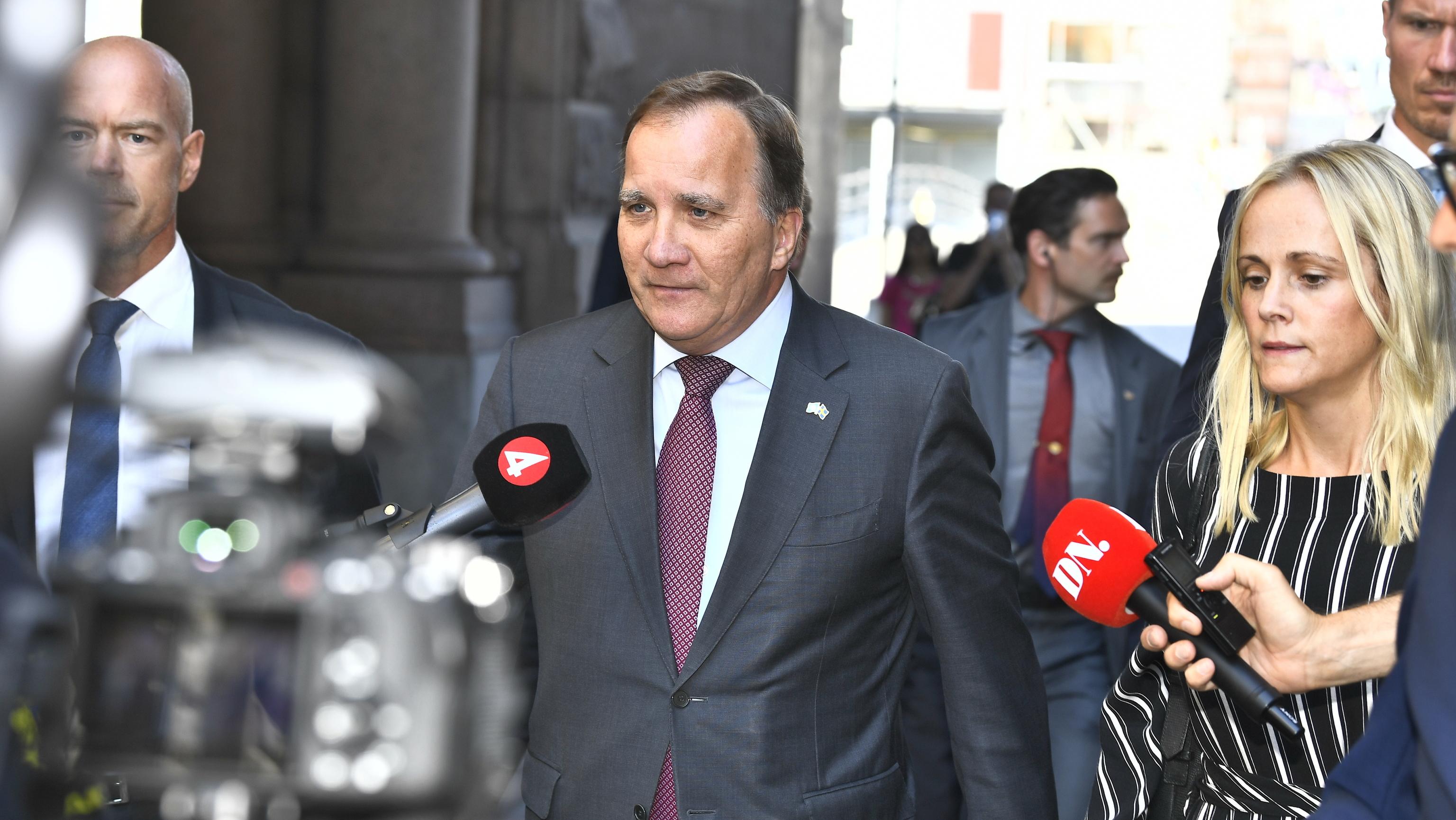 El primer ministro en funciones, Stefan Löfven, en Estocolmo.