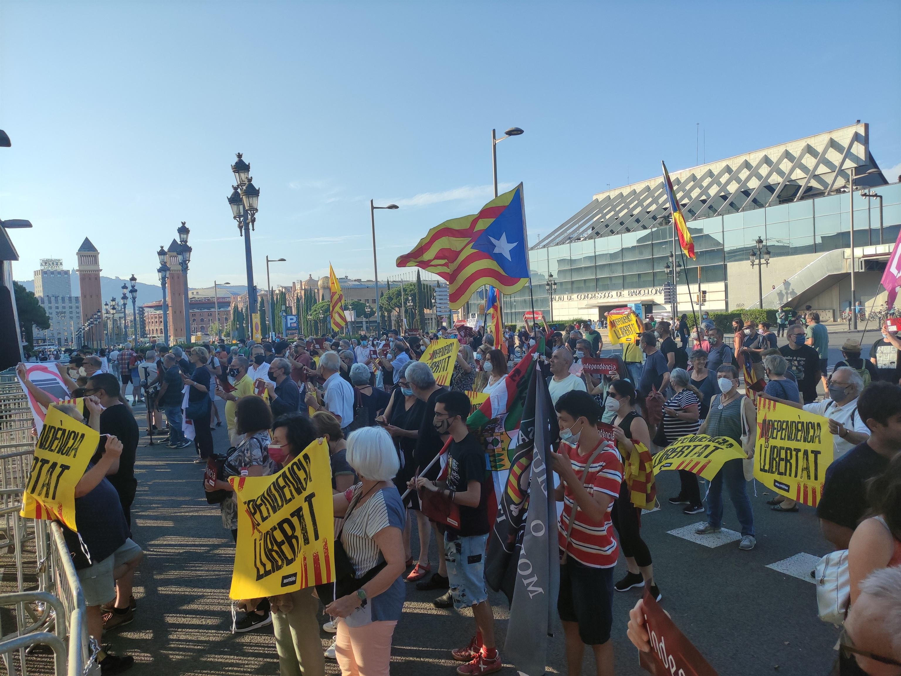 Manifestación contra el Rey en Barcelona.