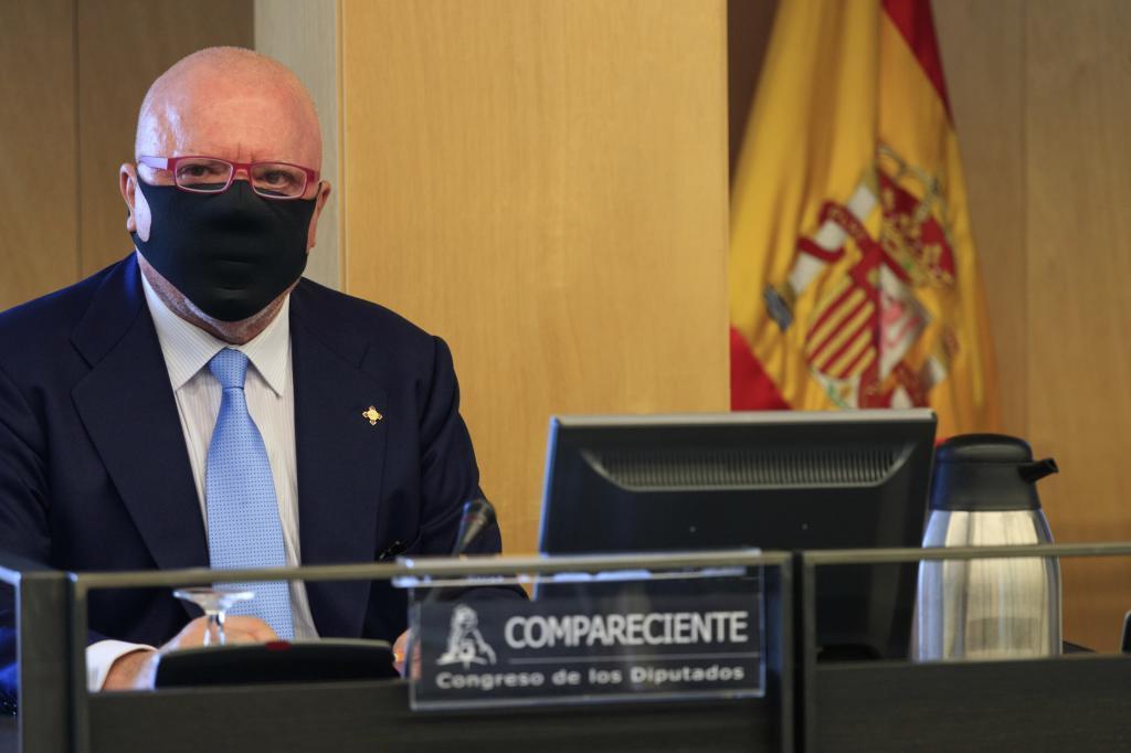 José Manuel Villarejo, durante su comparecencia en la 'comisión Kitchen' del Congreso.
