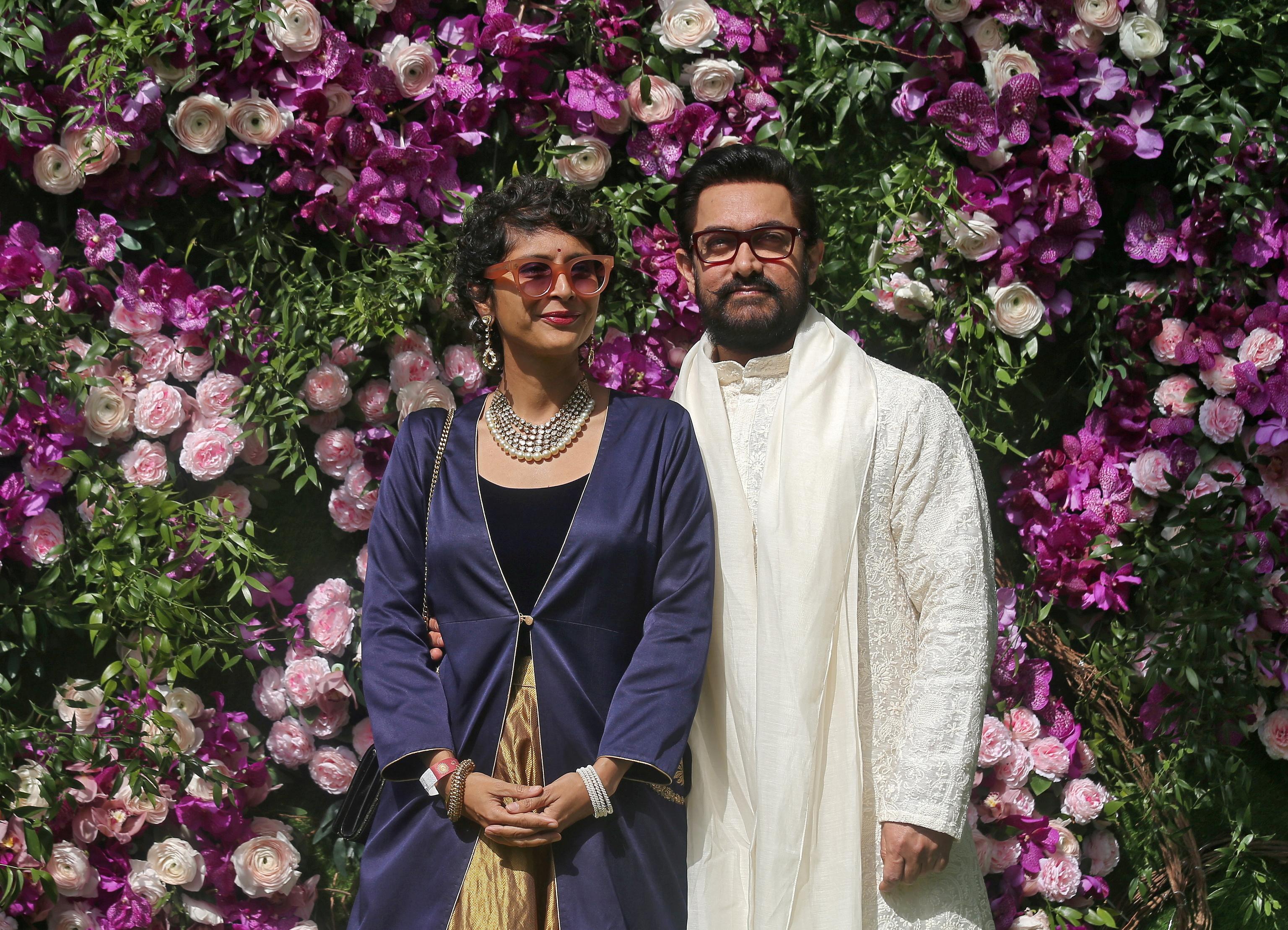 Aamir Khan y su hasta ahora esposa, Kiran Rao.