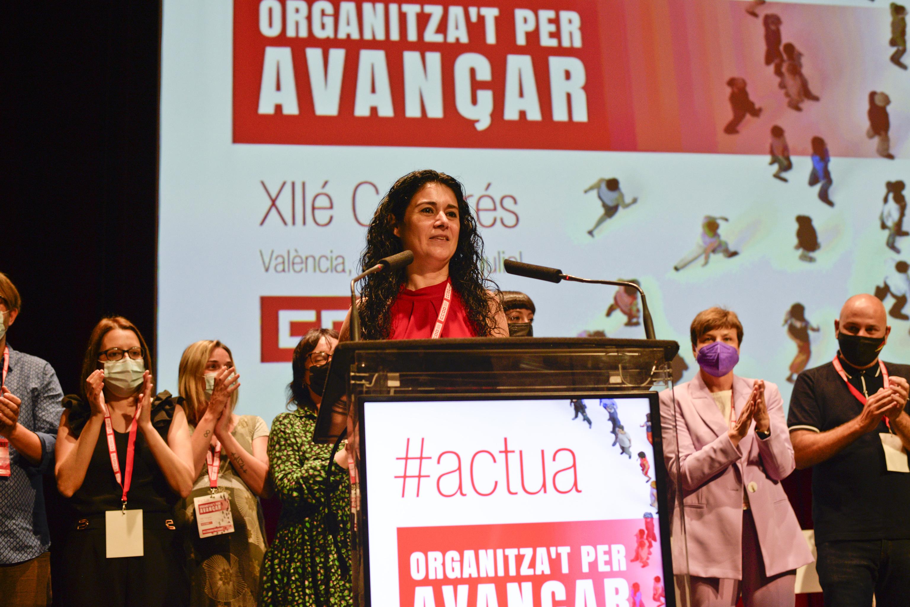 Ana García, nueva secretaria general de CCOO PV.