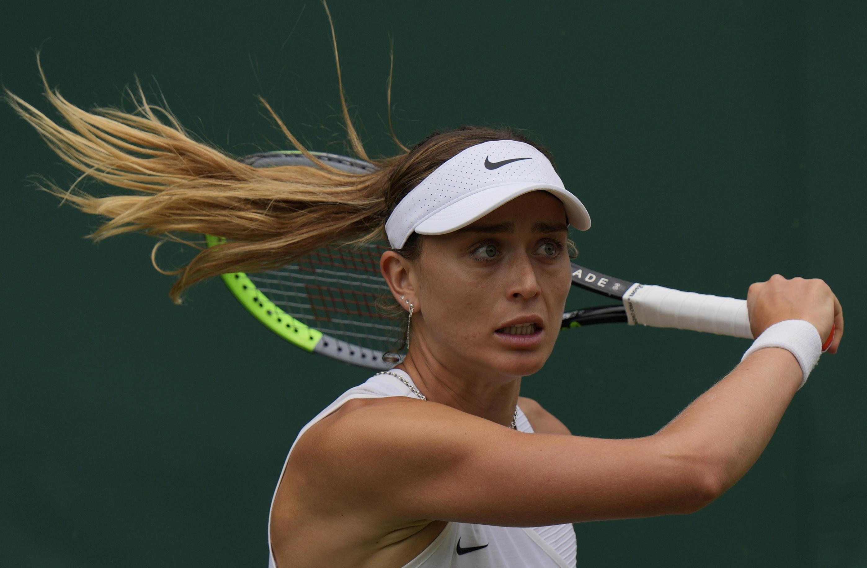 Paula Badosa, durante el torneo de Wimbledon.