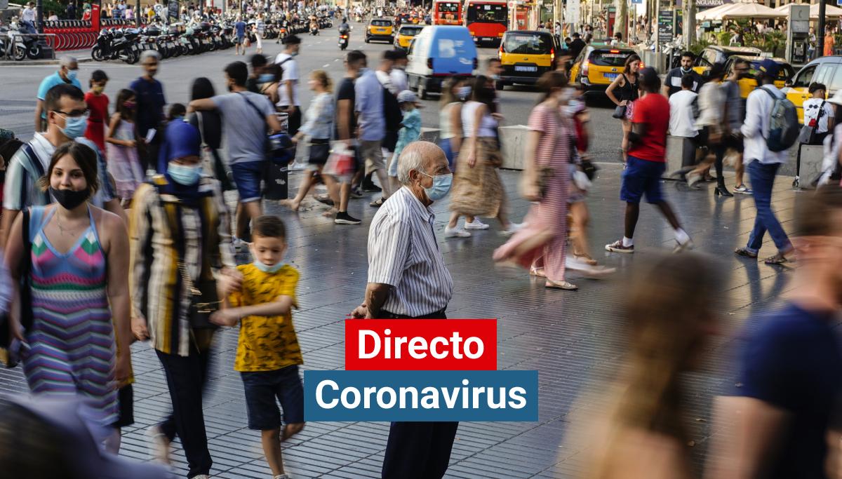 Una céntrica calle de Barcelona cuando repunta la pandemia de coronavirus en Cataluña.