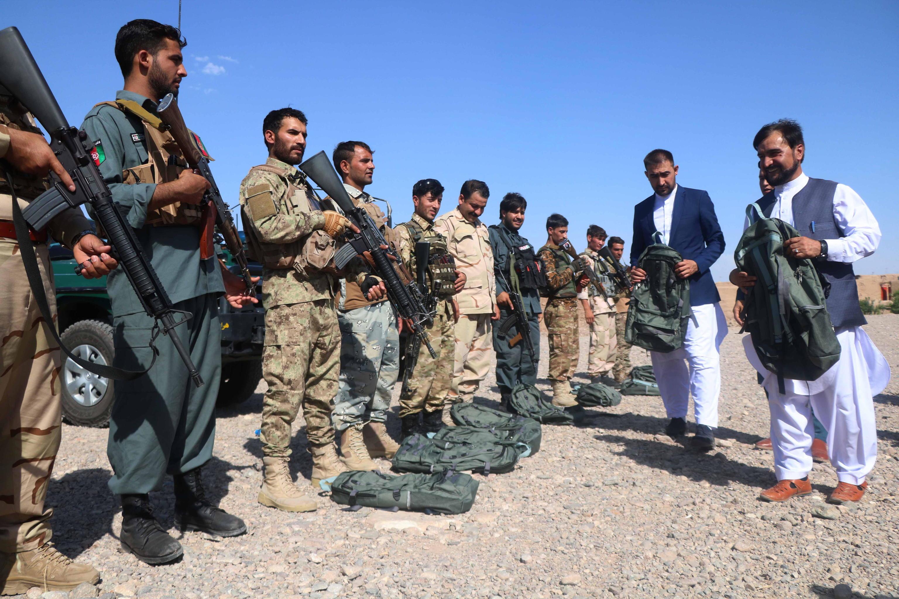 مقامات امنیتی افغانستان در روز دوشنبه در شهر هرات.