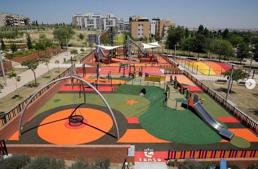 El nuevo parque infantil de la Dehesa Vieja de San Sebastián de los Reyes