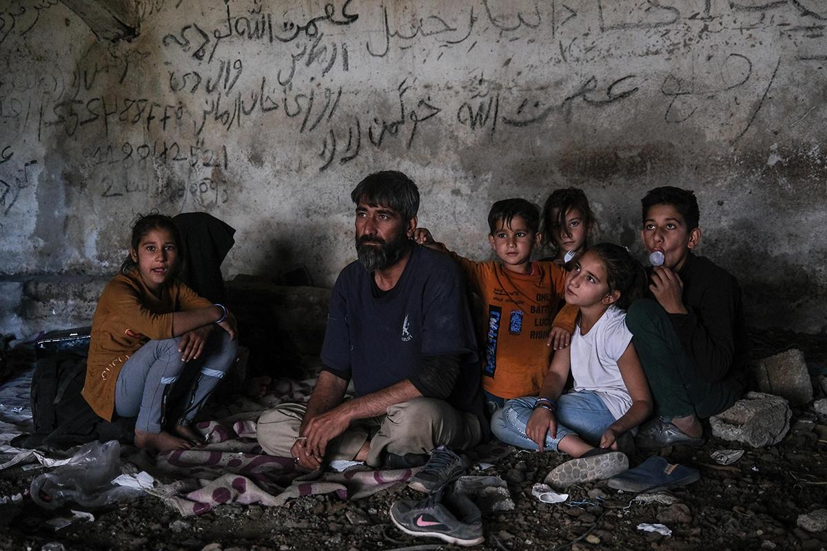 Una familia afgana en la ciudad turca de Van.