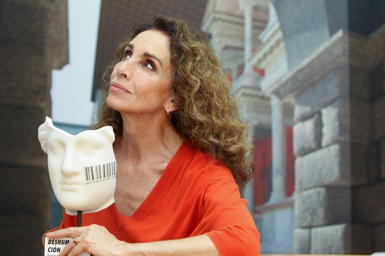 La actriz Ana Belén, este martes en Mérida.