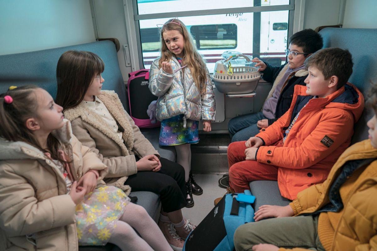 El vagón donde los niños organizan 'su plan'.