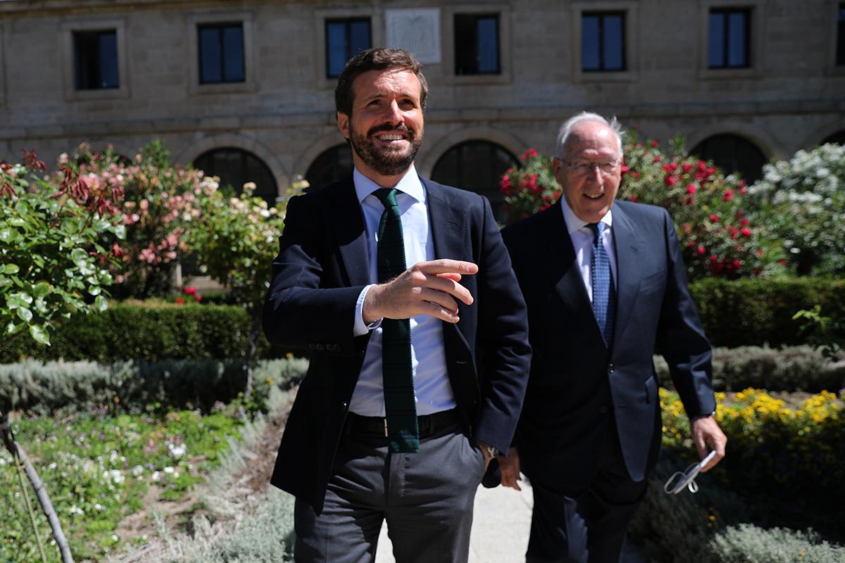 Pablo Casado y Manuel Pizarro, este miércoles.